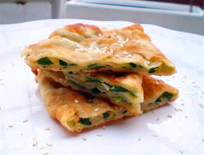 Kineske palačinke Scallion pancakes