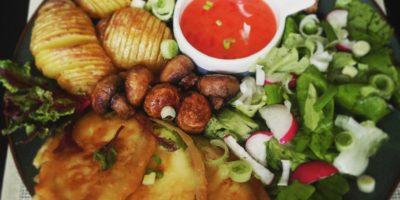 Pohovane tikvice sa povrćem i tofuom iz rerne