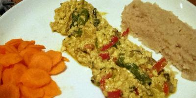 Krem omlet od tofua s prilogom prosa